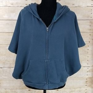 Free People Poncho Style Zip Front Hoodie
